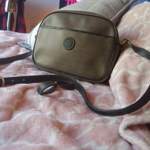 FENDI Authentic crossbody handbag dark brown tan